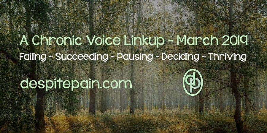 Failing, succeeding, pausing, deciding, thriving. A Chronic Voice Linkup