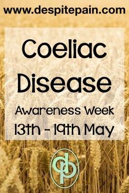 Coeliac disease awareness week 13th - 19th May. Gluten-free