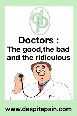 Doctors : the good, the bad and the ridiculous. Crazy doctor, stethoscope. Doctors say stupid things to patients sometimes.