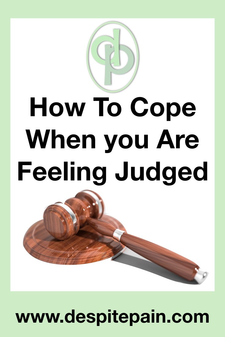 How to cope when you are feeling judged. Judge's gavel.