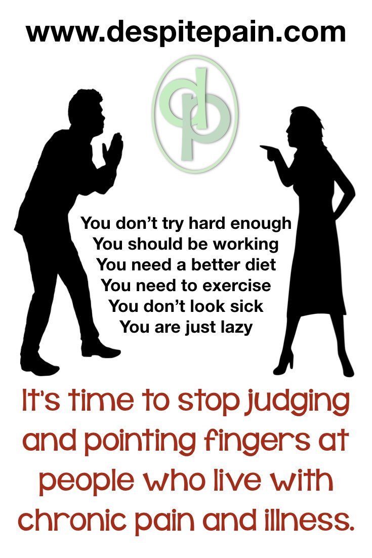 Stop judging and pointing fingers at people with chronic pain and illness
