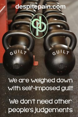 Weights. Self-imposed guilt. People's judgements.