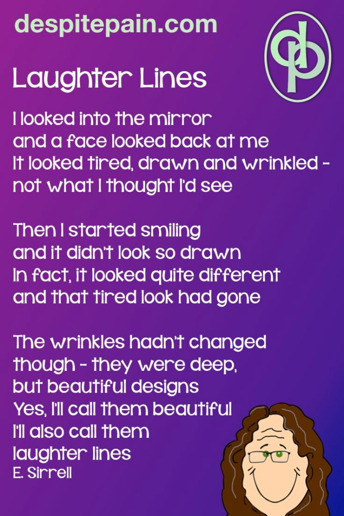 Laughter Lines. Poem about wrinkled face.