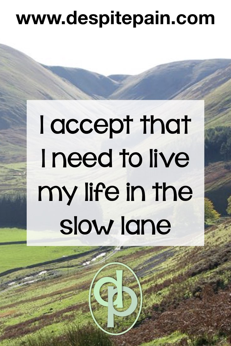 I accept that I need to live my life in the slow lane. Scenic view in Scotland.